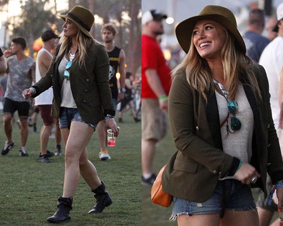 Hilary Duff wearing IRO Calixa Blazer at Coachella