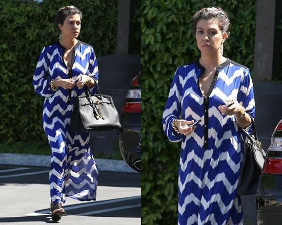 kourtney-kardashian-T-bags-Valeria-Long-Dress