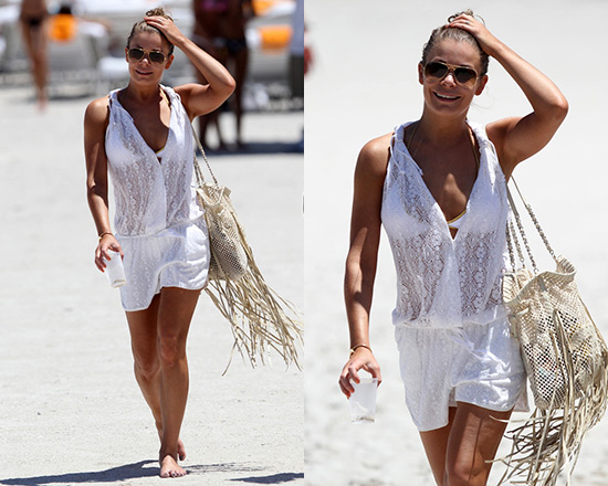 LeAnn Rimes hits Miami Beach in Bop Basics Lulu Lace Romper