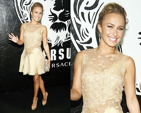 hayden-panettiere-Versace-beige-lace-dress