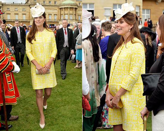 Kate Middleton wears Emilia Wickstead Marella Silk Coat to Royal garden party