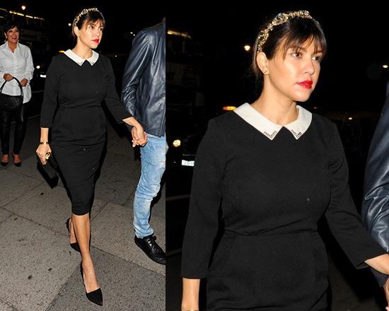 Kourtney Kardashian in ASOS Tulip Dress with Collar Detail