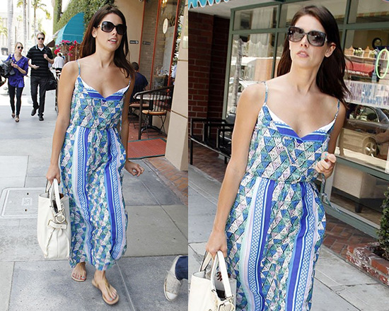 Ashley Greene steps out in Ella Moss Tiki Maxi Dress