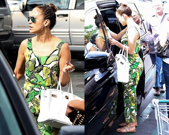 Jennifer Lopez wearing Topshop Banana Leaf Jumpsuit