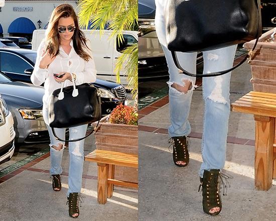 Khloe Kardashian in JET Jamie Roll Up Slim Leg Jeans