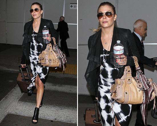 LeAnn Rimes in Young Fabulous & Broke Sassy Maxi Dress