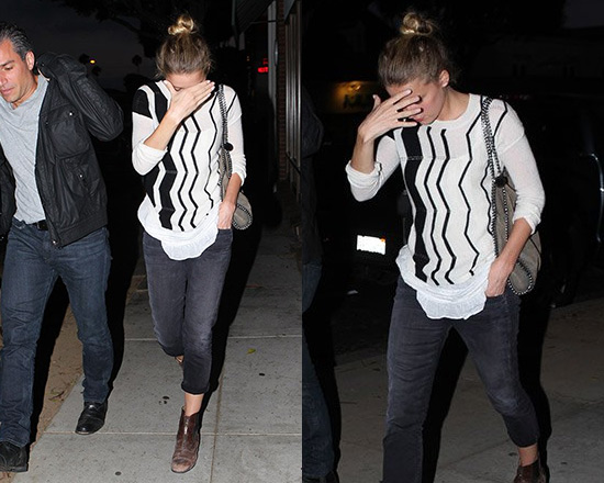 Amber Heard in Line Knitwear Hypnotic Sweater
