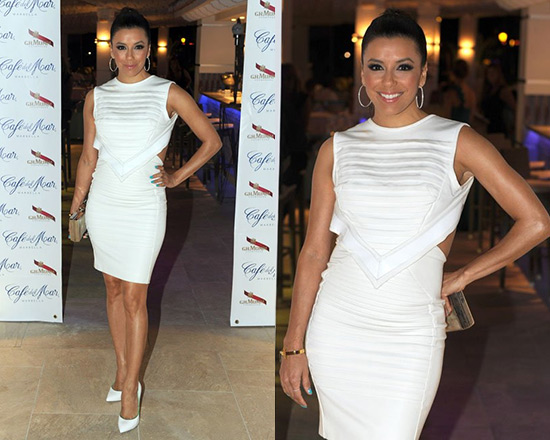 50% OFF David Koma White Sculptural Dress as seen on Eva Longoria