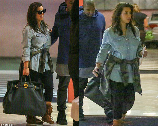 Kim Kardashian steps out post-baby looking comfortable and casual