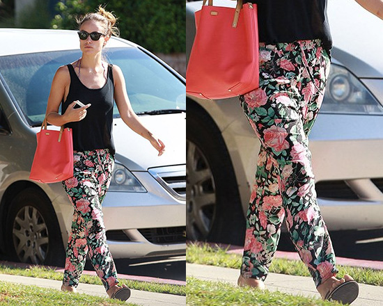 Olivia Wilde steps out in Lovers + Friends Bright Eyes Pants