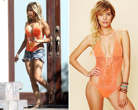 Ashley Tisdale wears Lisa Maree Crochet Monokini to Labor Day party