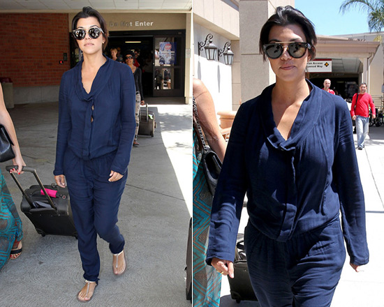 Kourtney Kardashian in Young Fabulous & Broke Hamlet Jumpsuit