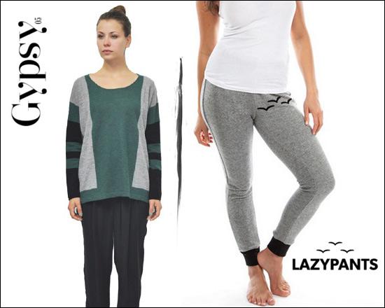 Alessandra-Ambrosio-Gypsy05-Cashmere-Box-Sweater-LazyPants-Grey-French-Fleece-Skinny2