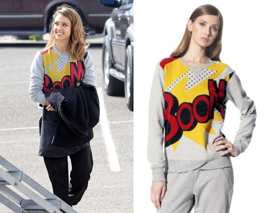 3.1 Phillip Lim for Target Boom Print Sweatshirt as seen on Jessica Alba