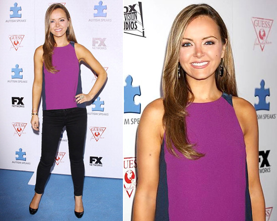 Nicole Lapin hits the blue carpet in Rag & Bone Clemence Tank