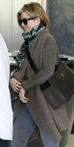 Jennifer Aniston wears AllSaints Force Cardigan