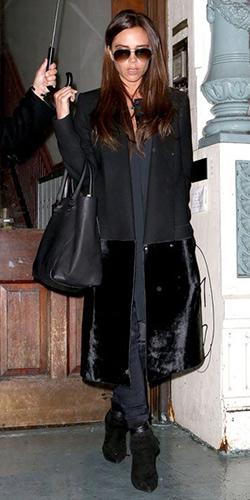 Victoria Beckham Wool and calf hair coat