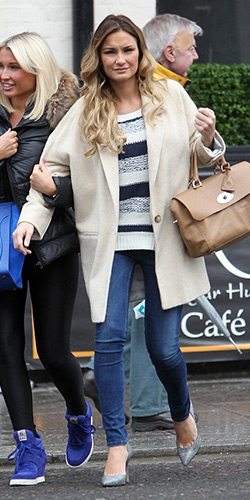 Samantha Faiers in Vero Moda Stripe Sweater