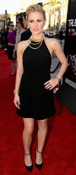 anna-paquin-Thakoon-flared-tie-fastening-dress