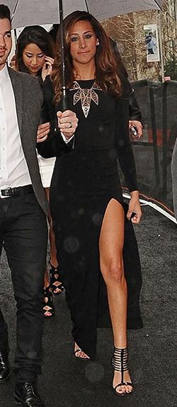 Danielle Jonas wearing a pair of MICHAEL Michael Kors Molly Sandals