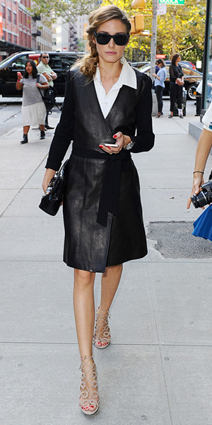 Diane Von Furstenberg Leather Wrap Dress