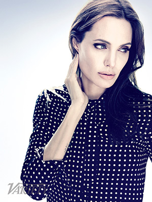 angelina-jolie-Saint-Laurent-polka-dot-print-shirt