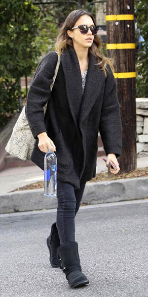 jessica-alba-Inhabit-Jacquard-Cocoon-Coat