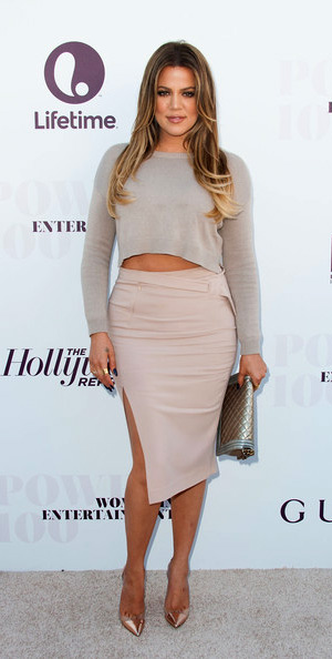 khloe-kardashian-ALC-side-slit-fitted-midi-skirt
