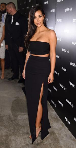 kim-kardashian-J-Mendel-Long-High-Slit-Silk-Skirt