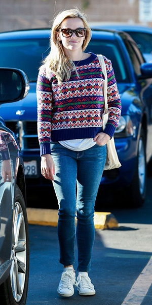 reese-witherspoon-J.Crew-lambswool-classic-Fair-Isle-sweater