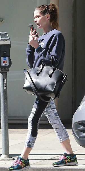 Ashley Greene in Sub Urban Riot Kale Unisex Navy Sweatshirt