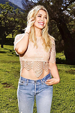 Hilary Duff wearing a For Love & Lemons Luna Crop Top for SHAPE magazine, May 2015 issue