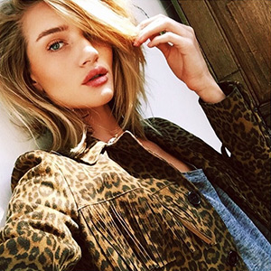 Rosie Huntington-Whiteley Instagram Style - Saint Laurent Leopard Fringed Suede Jacket