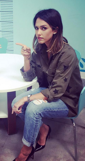Hye Park and Lune Stella Military Jacket as seen on Jessica Alba