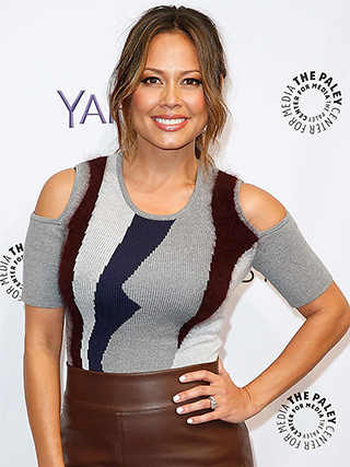 Vanessa Lachey wearing a Yigal Azrouel Intarsia Cold Shoulder Knit Top at The Paley Center For Media's PaleyFest 2015 Fall TV Preview on September 9, 2015 in Beverly Hills, CA to promote her new NBC show Truth Be Told.""