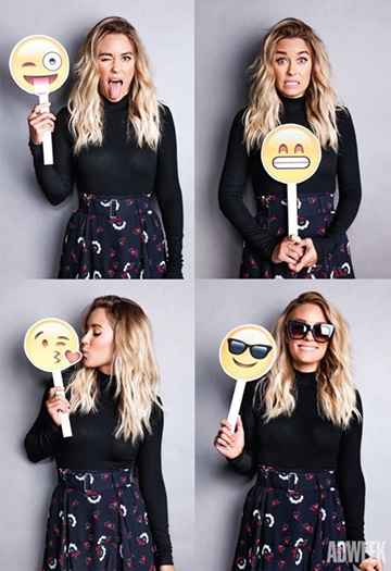 A.L.C. Daro Belted Skirt as seen on Lauren Conrad for Adweek/Cosmopolitan 2015