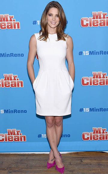 Ashley Greene wearing a L'Agence Alexandra Sleeveless Dress to the #15MINRENO Ideas With Mr. Clean event on July 28, 2015 in New York City.