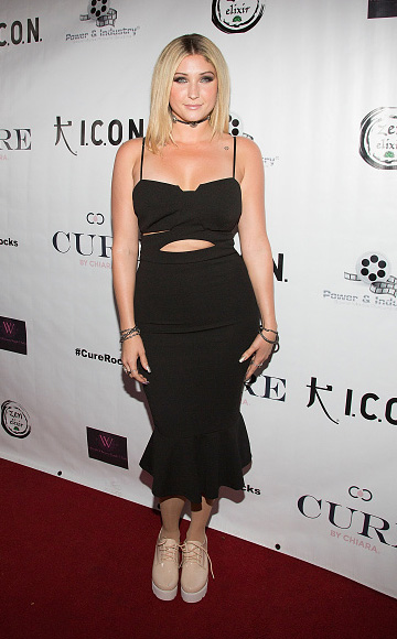 """Taylor-Ann Hasselhoff at the """"Cure Rocks…Where Music + Cause Collide"""" Stopcancer.org Benefit Concert at The Whiskey A Go Go in West Hollywood, CA on October 12, 2015."""
