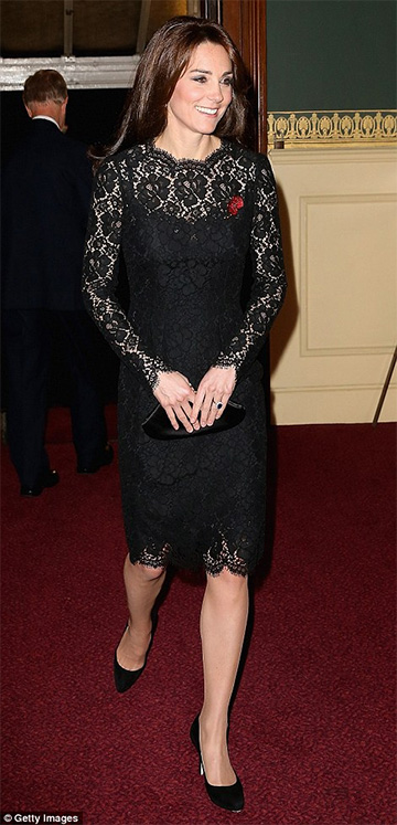 Dolce & Gabbana Lace Dress as seen on Kate Middleton
