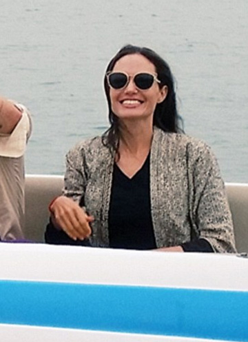 Dior Sideral 2 Round Sunglasses as seen on Angelina Jolie