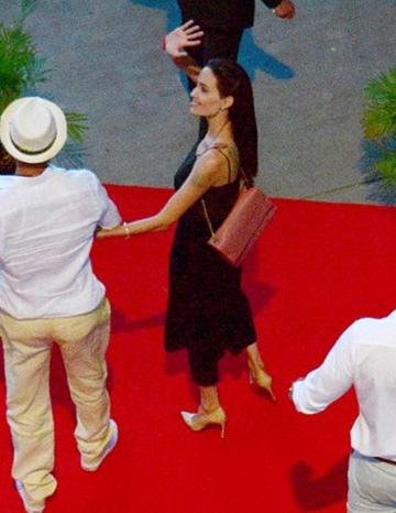 Lanvin 'Sugar' shoulder bag as seen on Angelina Jolie