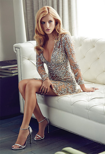 Zuhair Murad Sequin Embellished Tulle Dress as seen on Bella Thorne