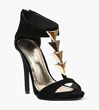 Necessary Clothing Cupid Arrow Suede Pumps as seen on Lauren Hashian