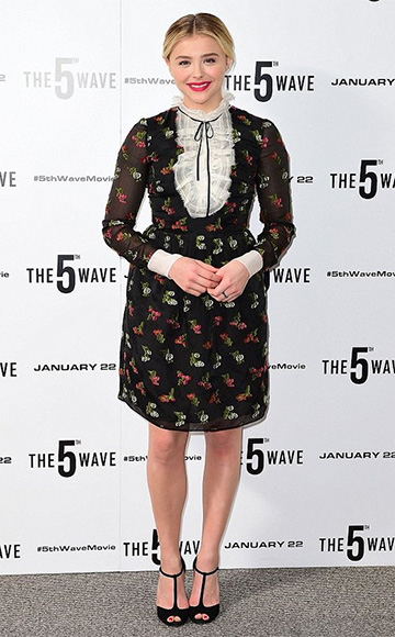 Erdem Katy Fil Coupé Mini Dress as seen on Chloe Grace Moretz