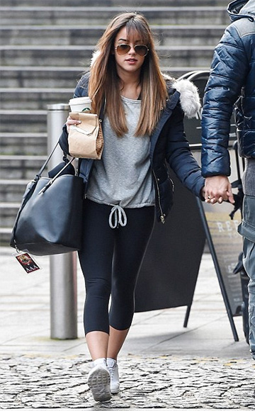 New Look Grey Drawstring Sports Sweater as seen on Georgia May Foote