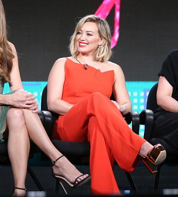 Roland Mouret Colston Jumpsuit as seen on Hilary Duff