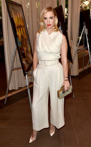 Emilia Wickstead Grace Textured Jacquard Top as seen on January Jones