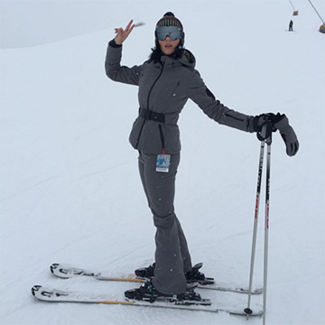 Fendi Leather-Trimmed Padded Shell Ski Jacket as seen on Katy Perry Instagram
