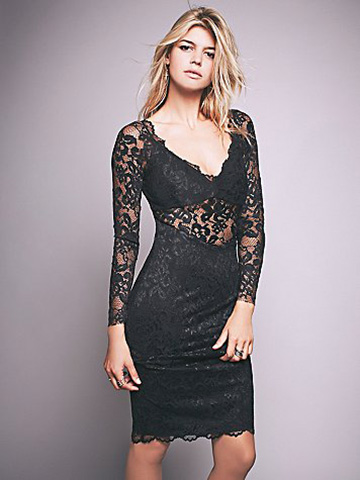 Bec & Bridge Cache Cache Sheer Lace Dress as seen on Kelly Rohrbach