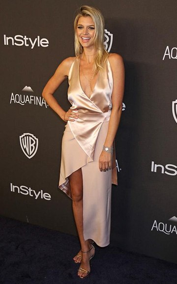 Dion Lee Silk Satin Belted Shell Dress as seen on Kelly Rohrbach
